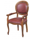 classic dining chair, armchair in wood, wooden armchair, wooden chair with armrests, wooden furniture for kitchen, kitchen chair, solid wood chair, dining chair in classic style,