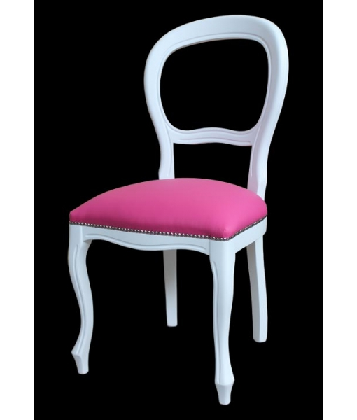 lacquered chair, white chair, classic chair, living room chair