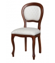 classic chair, Louis Philippe chair, wooden chair, upholstered chair, comfortable chair, living room chair, beech wood chair