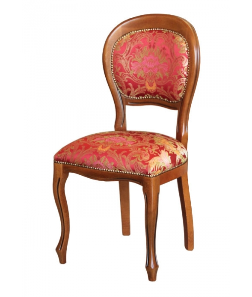 classic dining chair, Louis Philippe chair, wooden chair, red chair, upholstered dining chair, classic furniture