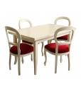sedia laccat, sedia Luigi Filippo, sedia rossa