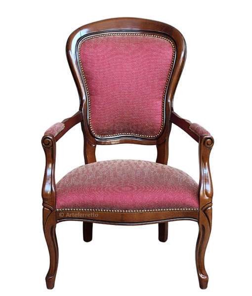 Louis Philippe upholstered armchair for living room. Sku 435