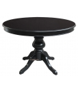 Extendable round black table, extendable dining table, round table, black table, black furniture,,classic style, italiam design, round table for living room, round table for kitchen,