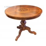 inlaid round table, dining table, wood round table, decorated table, classic style table, dining room furniture
