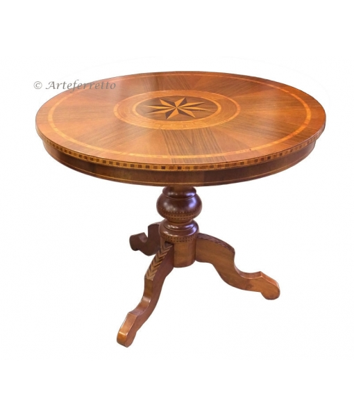 Inlaid round table for dining room Sku. 4860