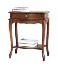 shaped bedside table, wooden nightstand, sidetable, classic side table, bedside table with carvings, carved bedside table, entryway furniture, bedroom furniture,