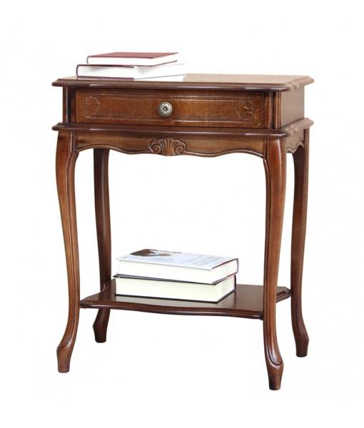 Shaped bedside table  in wood for bedroom. Sku 492