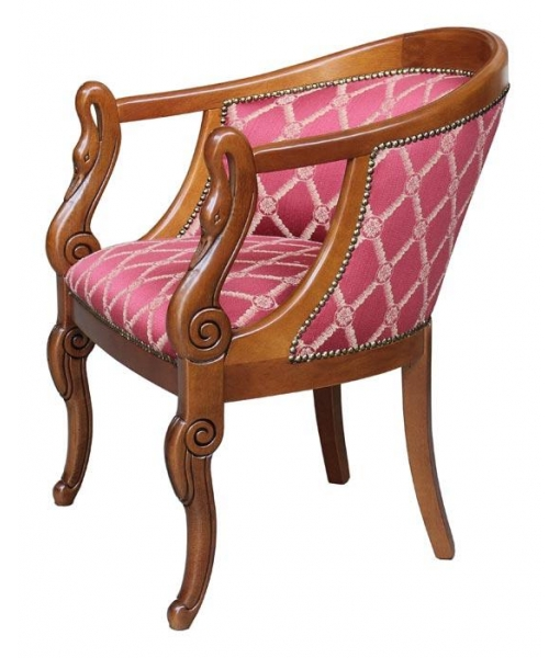 Small armchair with swan carved motive, Sku: 5025