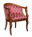 small armchair, armchair, carved armchair, swan armchair, wooden armchair, elegant armchair, upholstered armchair, padded armchair, italian design armchair, classic armchair