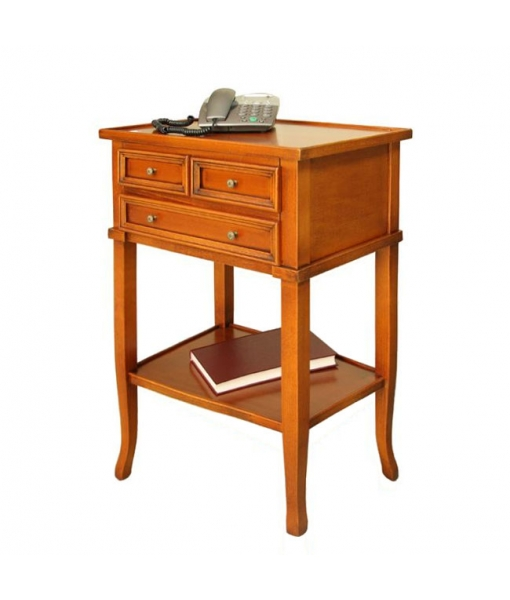 Hallway 3 drawer cabinet in wood. Sku. 533-C