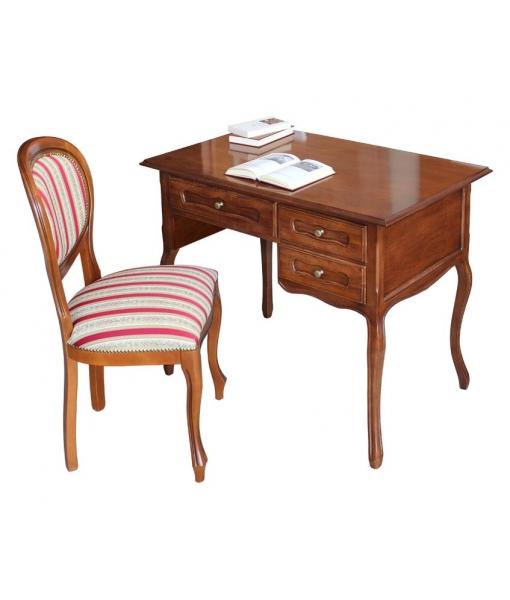 provence style small desk, small desk, classic desk, crafts desk, furniture made in Italy, italian furniture, wooden desk, office desk