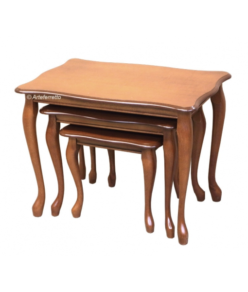 Wooden nesting tables set for living room. Sku 65