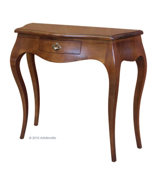 classic shaped console table, wooden console table, classic console table, entryway furniture, classic style, wooden console table, Item n° 6801