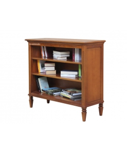 classic low bookcase, wooden bookcase, living room bookcase, classic bookcase, opening shelving bookcase, inlaid bookcase, office furniture,