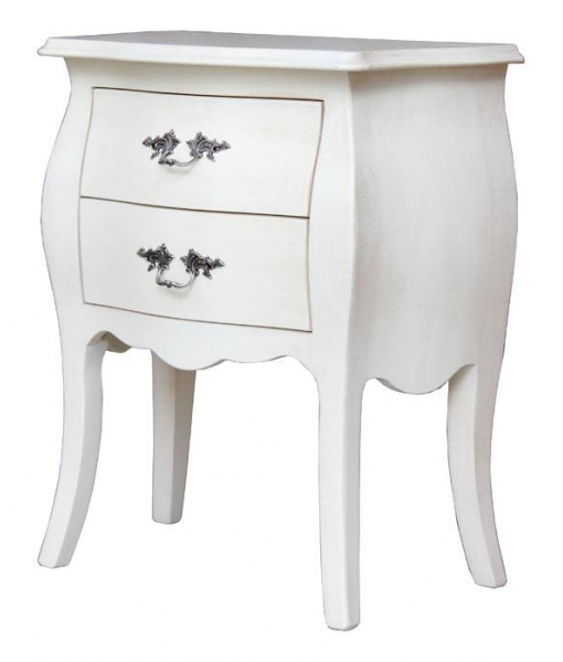 Rounded lacquered nightstand with 2 drawers. Product code: 8012-AV