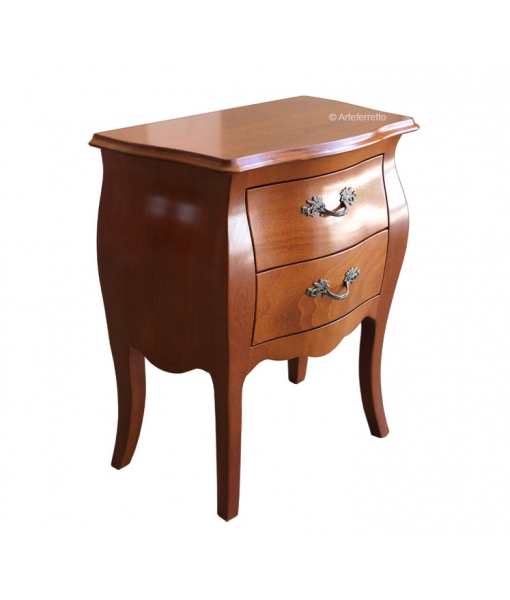 Rounded nightstand 2 drawers for bedroom. Sku 8012