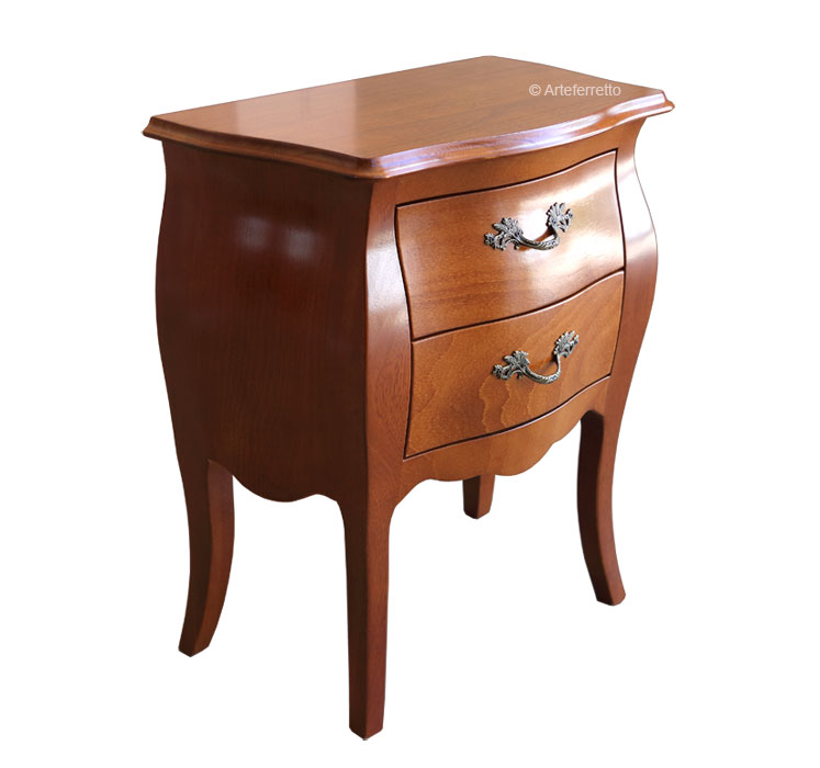 buy popular 467e2 12cb6 Rounded nightstand 2 drawers - FerrettoHome