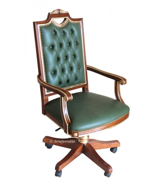 upholstered swivel armchair, leather armchair, wooden armchair, classic armchair, furniture for office, study room furniture,