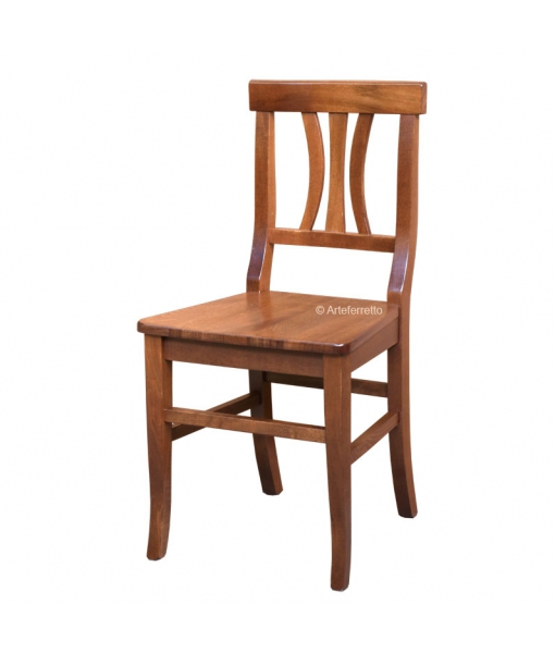 Solid beech wood chair, Sku. 829