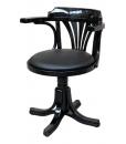 black swivel armchair, black armchair, office chair, wooden chair, classical swivel armchair, black furniture, italian design chair
