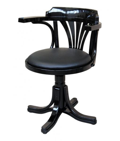 Black swivel armchair in beech wood. Sku 839-Black
