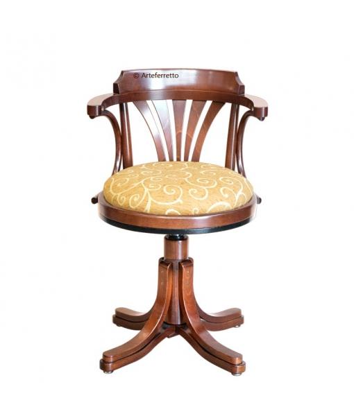 swivel fabric armchair, armchair, wooden armchair, beech wood, office furniture, chair, wooden chair, armchair with fabric