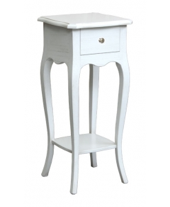 plant stand side table in wood, entryway side table, white plant stand, lamp table, classic side table, small side table