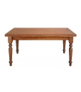 wooden table, extendable rectangular table, rectangular table, kitchen table, dining table, table for dining room, classic table, classic style furniture, solid toulipier table
