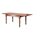 wooden table, extendable rectangular table, rectangular table, kitchen table, dining table, table for dining room, classic table, classic style furniture, solid toulipier table, turned legs, extendable table