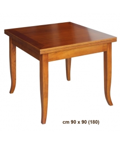 flip top square table, dining room table, square table, classic table, kitchen table, wood table, classic style furniture