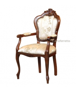 carved armrest chair, classic chair, head chair, wooden chair, solid wood chair, classic furniture, dining chair