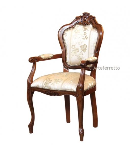 Carved armrest chair. SKU: A20-C-F