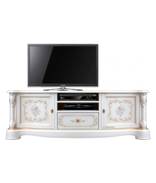 Decorated classic tv cabinet 2 doors 1 drawer. SKU. A-31