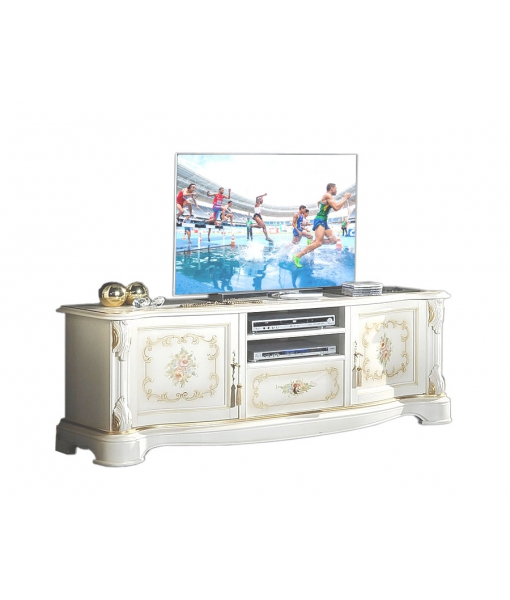 decorated classic tv cabinet, wooden tv cabinet, classic style tv cabinet, italian design tv cabinet, tv stand, living room cabinet, living room furniture, italian furniture,