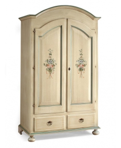 lacquered wardrobe, wardrobe, wardrobe with flowers, bedroom furniture, furniture for bedroom