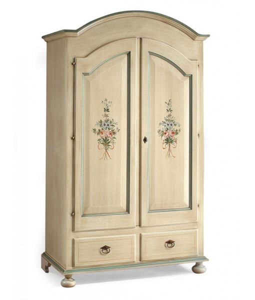 Lacquered wardrobe with flowers. Product code: A1909