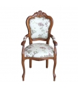 Carved armrest chair