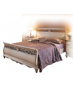 lacquered double bed, bedroom furniture, classic style bed, Liberty style bed, wooden bed, bedroom furniture
