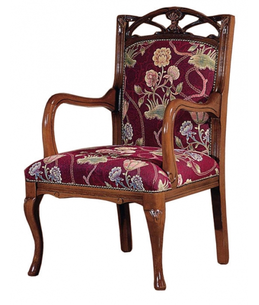 Traditional wood armchair. Sku AF-1005
