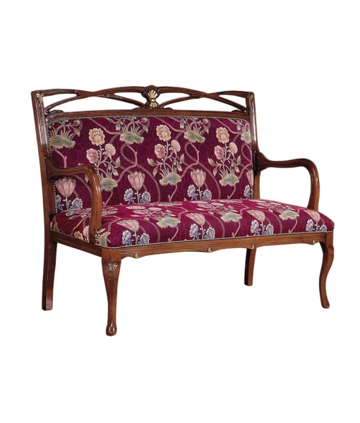 Traditional wood sofa. Sku  AF-1006