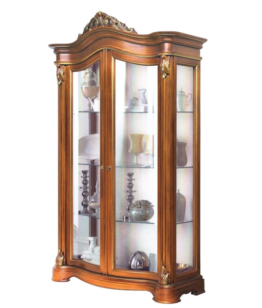 Lime wood display cabinet. Living room furniture. Sku AF-1022