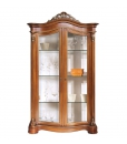 Lime wood display cabinet Lumière gold