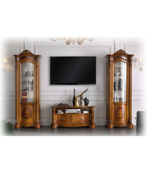 briar root inlaid display cabinet, showcabinet, wooden cabinet, wooden classic cabinet, 1 door display cabinet, tall display cabinet, carvings, carved display door, inlaid display door, classic furniture, living room furniture