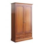 storage wardrobe in wood, wooden wardrobe, bedroom wardrobe, tall wardrobe, Arteferretto furniture, bedroom furniture
