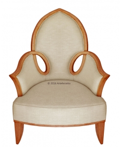 shaped armchair, armchair, classic armchair, design chair, italian design armchair, armchair made in Italy