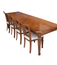 inlaid rectangular table, wooden table, carved table, dining table
