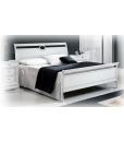 Sleigh double bed, wood bed, bedroom furniture, classic sleigh bed, double bed, white bed, bed frame, Arteferretto