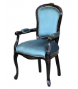 wooden armchair, upholstered armchair, classic armchair