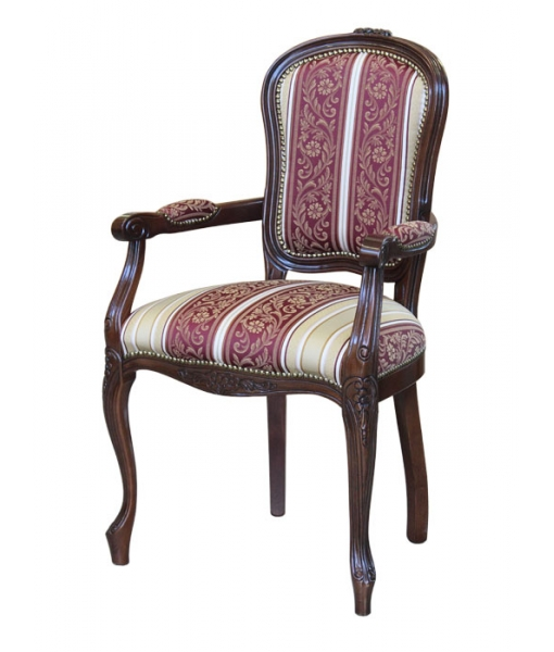 Wooden upholstered armchair. Sku  BR-1. Fabric ST-25