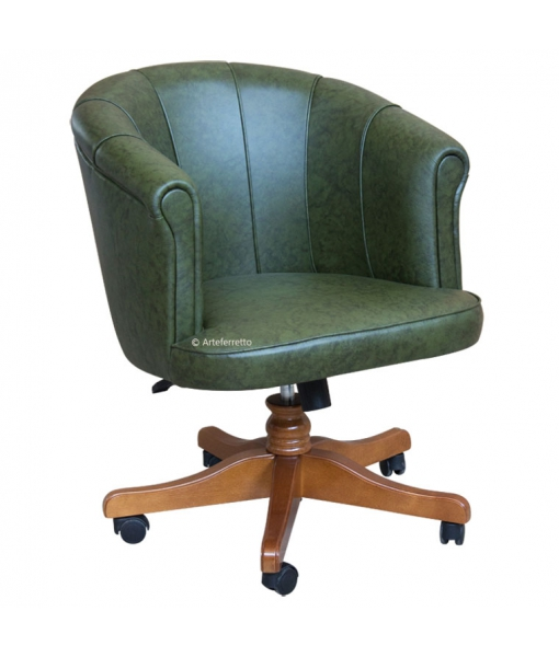 Leather swivel armchair for office. Sku BS-07